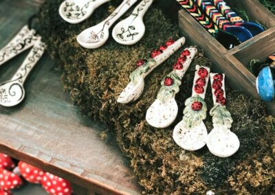 Handmade ceramic spoons at Electric Co. Market