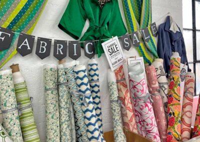 Moyanne Interiors at Electric Co. Market in Bedford - fabric sale