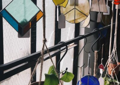 Stained glass suncatchers in Bedford, Virginia